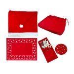 Σετ Χριστουγεννιάτικη Διακόσμηση Τραπεζιού 7 τμχ MWS15052