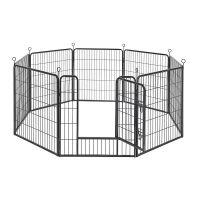 Οκτάγωνο Μεταλλικό Κλουβί - Πάρκο Εκπαίδευσης Σκύλου Βαρέως Τύπου 77 x 80 cm Feandrea PPK88G