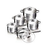 Σετ Μαγειρικών Σκευών από Ανοξείδωτο Ατσάλι 10 τμχ Gourmet Line Blaumann BL-1637