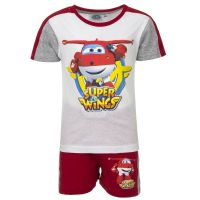 Παιδικό Σετ Μπλούζα - Σορτς Χρώματος Κόκκινο Super Wings Disney QE1599