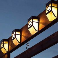 Ηλιακά Φώτα Φράχτη με Λευκό LED Φωτισμό 2 τμχ SPM 36019sl