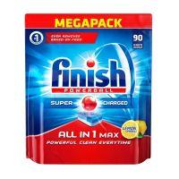 Απορρυπαντικό Πλυντηρίου Πιάτων Finish All In 1 Max Λεμόνι 90 Ταμπλέτες Finish-AllinoneL-90