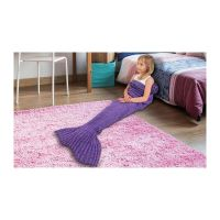 Παιδική Πλεκτή Κουβέρτα Γοργόνα 140 x 70 cm Χρώματος Μωβ SPM KidsMermaid-Purple