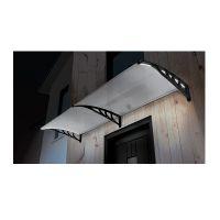 Διπλό Πλαστικό Κιόσκι - Τέντα Πόρτας Εισόδου με Ηλιακό LED Φωτισμό 80 x 240 cm SPM 40070221