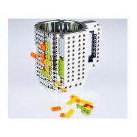 Κούπα Τύπου Lego Χρώματος Ασημί SPM BrickMug-Silver