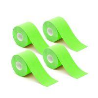 Σετ Αδιάβροχες Ταινίες Κινησιολογίας 5 cm x 5 m 4 τμχ Χρώματος Πράσινο Hoppline HOP1000971-6