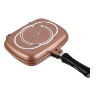 Διπλό Αντικολλητικό Τηγάνι 32 cm Χρώματος Copper Royalty Line RL-DF323M COPPER