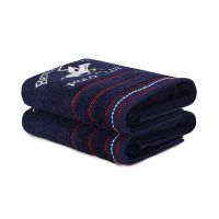Σετ με 2 Πετσέτες Προσώπου 50 x 90 cm Χρώματος Navy Beverly Hills Polo Club 355BHP2308