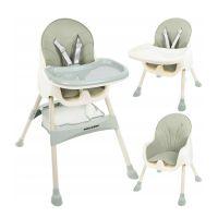 Παιδικό Κάθισμα Φαγητού 3 σε 1 Χρώματος Πράσινο Kruzzel 12059