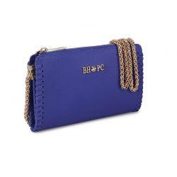 Γυναικείο Τσαντάκι Ώμου με Αλυσίδα Χρώματος Μπλε Beverly Hills Polo Club 668BHP0218