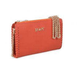Γυναικείο Τσαντάκι Ώμου με Αλυσίδα Χρώματος Πορτοκαλί Beverly Hills Polo Club 668BHP0219