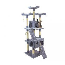 Δέντρο Γάτας - Ονυχοδρόμιο 75 x 62 x 170 cm Χρώματος Γκρι Wintem PL-0823