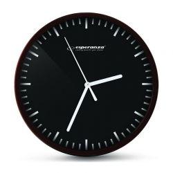 Ρολόι Τοίχου Esperanza Budapest Χρώματος Μαύρο EHC010K