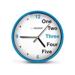Ρολόι Τοίχου Χρώματος Μπλε Esperanza Prague EHC014B