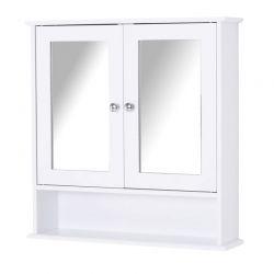 Κρεμαστό Ντουλάπι Μπάνιου με Καθρέπτη και 1 Ράφι 56 x 13 x 58 cm Kleankin 834-182V01