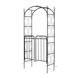 Μεταλλική Πέργκολα - Αψίδα Κήπου με Πόρτα 108 x 45 x 215 cm Outsunny 844-255