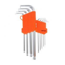 Σετ Κλειδιά Allen Hex Μπίλιας 1.5-10 mm 9 τμχ Kraft&Dele KD-10296