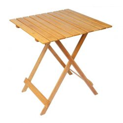 Ξύλινο Πτυσσόμενο Τραπέζι Εξωτερικού Χώρου 80 x 60 x 76 cm MWS17609