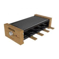 Ηλεκτρική Ψησταριά Raclette Grill 1200 W Cecotec Cheese&Grill 8200 Wood Black CEC-03090