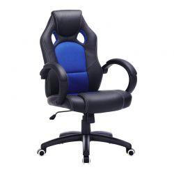 Καρέκλα Γραφείου Χρώματος Μπλε Songmics OBG56L