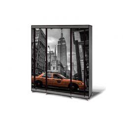Φορητή Υφασμάτινη Ντουλάπα με Μεταλλικό Σκελετό 135 x 175 x 45 cm NEW YORK Idomya 30010078