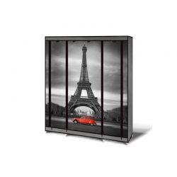 Φορητή Υφασμάτινη Ντουλάπα με Μεταλλικό Σκελετό 135 x 175 x 45 cm PARIS Idomya 50070407