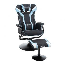 Καρέκλα Gaming με Υποπόδιο 67 x 82.5 x 103 cm Χρώματος Γαλάζιο Vinsetto 833-886V70