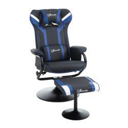 Καρέκλα Gaming με Υποπόδιο 67 x 82.5 x 103 cm Χρώματος Μπλε Vinsetto 833-886V70BU