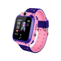 Παιδικό Ρολόι με GPS και Υποδοχή για Κάρτα SIM Χρώματος Ροζ Q12 SPM Q12-Pink