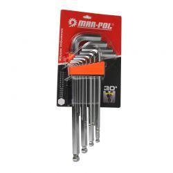 Σετ Κλειδιά Allen Hex 2 - 19 mm 13 τμχ MAR-POL M66429