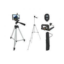 Σετ Πτυσσόμενο Τρίποδο Φωτογραφικής Μηχανής και Τηλεφώνου με Βάση Στήριξης και Τηλεχειριστήριο 45-133 cm SPM 6067