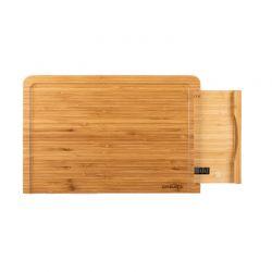Ψηφιακή Ζυγαριά Κουζίνας από Μπαμπού με Δίσκο Κοπής CREATE IKOHS 8435572606596