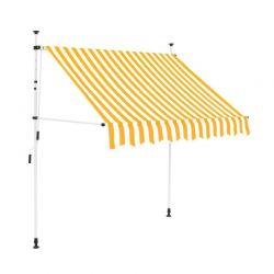 Χειροκίνητη Πτυσσόμενη Τέντα με Μανιβέλα 250 x 120 cm Hoppline HOP1001018-2