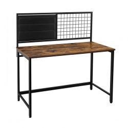 Μεταλλικό Γραφείο Υπολογιστή με Πλέγμα Σημειώσεων και Υφασμάτινες Θήκες 118 x 60 x 120 cm VASAGLE LWD068B01