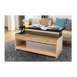 Ξύλινο Τραπέζι Σαλονιού 60.5-80 x 110 x 45-57 cm Idomya 30084284