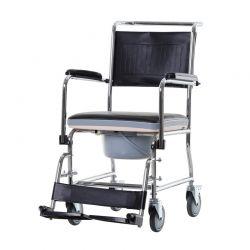 Αδιάβροχο Αναπηρικό Αμαξίδιο με Αφαιρούμενη Τουαλέτα HOMCOM 713-060BK