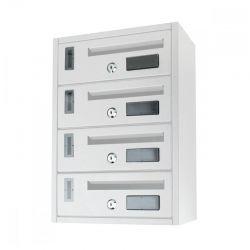 Μεταλλικό Γραμματοκιβώτιο 4 Θέσεων 42 x 18 x 30 cm MWS16049