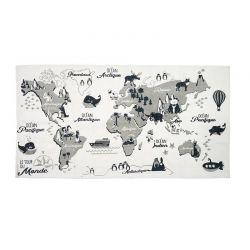 Παιδικό Χαλί Παγκόσμιος Χάρτης 140 x 70 cm Home Deco Factory TX9066