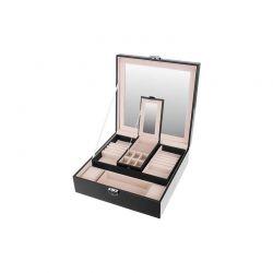 Κοσμηματοθήκη - Μπιζουτιέρα 25.5 x 25.5 x 9 cm Χρώματος Μαύρο SPM 8896