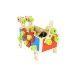 Παιδική Ξύλινη Εργαλειοθήκη 2 σε 1 Kruzzel 9358