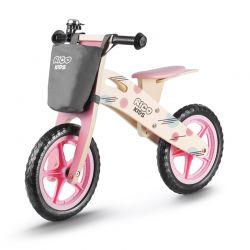 Παιδικό Ξύλινο Ποδήλατο Ισορροπίας Με Αξεσουάρ Χρώματος Ροζ Ricokids 7611