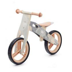 Παιδικό Ξύλινο Ποδήλατο Ισορροπίας KinderKraft Runner 2021 Χρώματος Γκρι KRRUNN00GRY0000