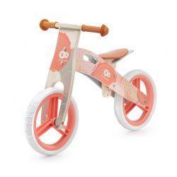 Παιδικό Ξύλινο Ποδήλατο Ισορροπίας KinderKraft Runner 2021 Χρώματος Κοραλί KRRUNN00CRL0000