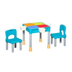 Σετ Παιδικό Τραπέζι με 2 Καρέκλες και 4 Κουτιά HOMCOM 312-038