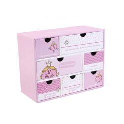 Χάρτινο Παιδικό Κουτί Αποθήκευσης με 7 Συρτάρια 19 x 9 x 15 cm Princess Monsieur Madame MM3287P