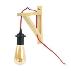 Επιτοίχια Λάμπα με Ξύλινη Βάση E27 10 W Home Deco Factory LA12086