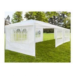 Κιόσκι Κήπου με Μεταλλικό Σκελετό και 6 Τοίχους 3 x 9 x 2.5 m Inkazen 40040174-1