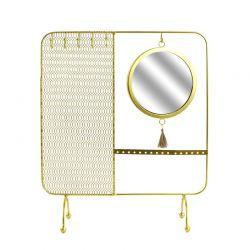 Μεταλλικό Σταντ Κοσμημάτων με Καθρέπτη 35.5 x 30 x 10 cm Home Deco Factory HD5074