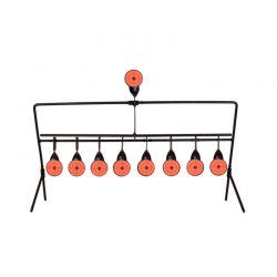 Περιστρεφόμενος Στόχος Αυτόματης Επαναφοράς με 8+1 Στόχους 50 x 26.5 x 20 cm Hoppline HOP1001172