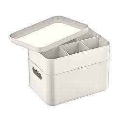 Πολυλειτουργικό Πλαστικό Αποθηκευτικό Κουτί 2 Επιπέδων 22 x 15 x 18 cm Herzberg HG-OKY676-Grey
